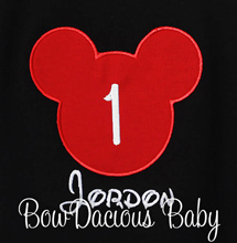 Personalized Extra Large Mickey Mouse Head Birthday Shirt, Custom, Any Age, Any Colors