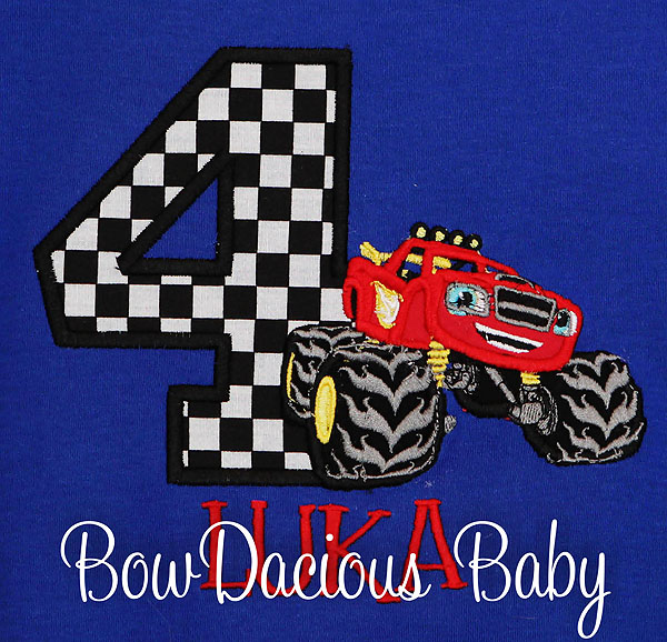 Blaze and the Monster Machines Birthday Shirt, Custom, Personalized, Any Age