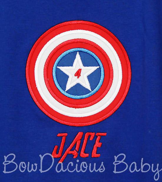 Captain America Birthday Shirt or Onesie
