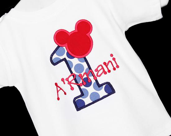 Mickey Mouse 1st Birthday Shirt or Onesie, Custom