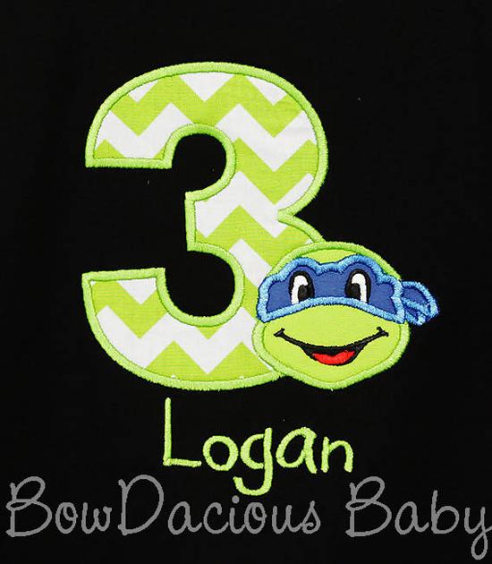 Ninja Turtle Birthday Shirt Muscle Shirt, Custom