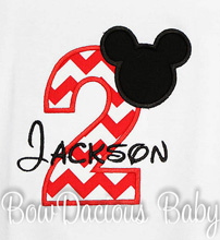 Mickey Mouse Birthday Shirt, Custom, Any Age