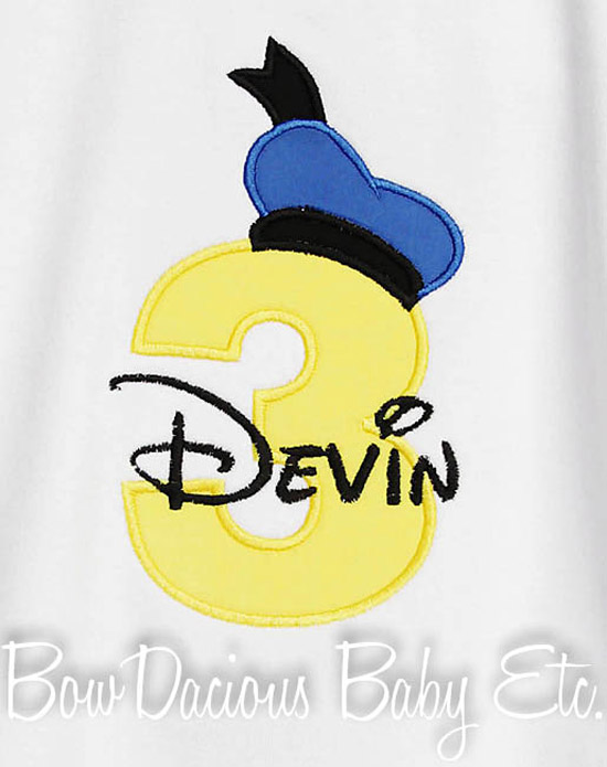 Donald Duck Birthday Shirt