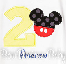 Boys Mickey Mouse Clubhouse Birthday Shirt or Onesie, Custom