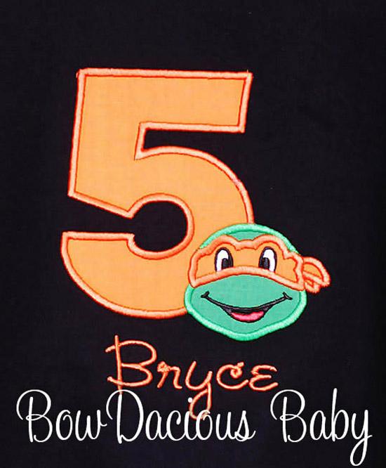 TMNT Personalized Birthday Shirt Custom Party Teenage Mutant Ninja Turtles