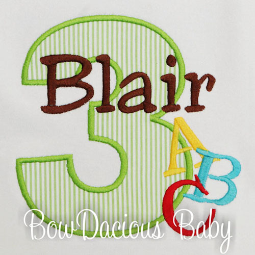 Boys Personalized Alphabet Birthday Shirt, Custom, Any age and Colors