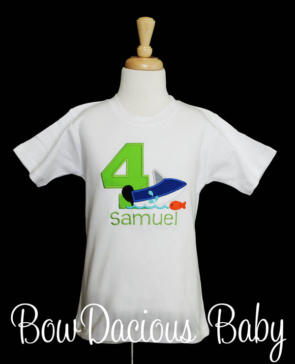 Personalized Boat Birthday Shirt or Onesie, Custom, Any Age and Colors