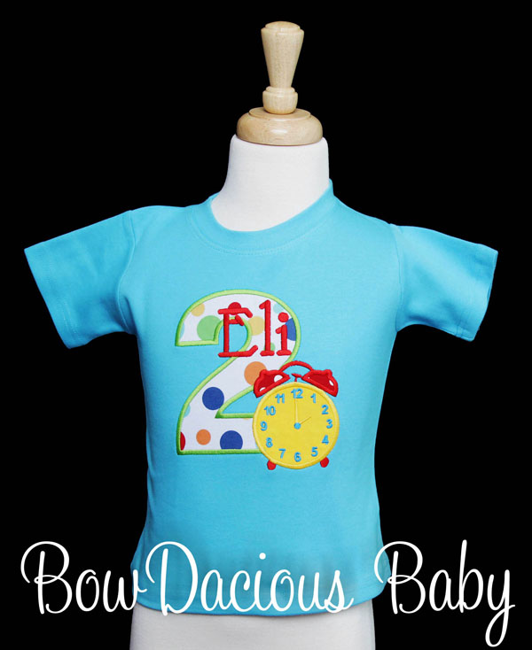 Alarm Clock Birthday Shirt, Custom, Personalized, Any Age and Colors