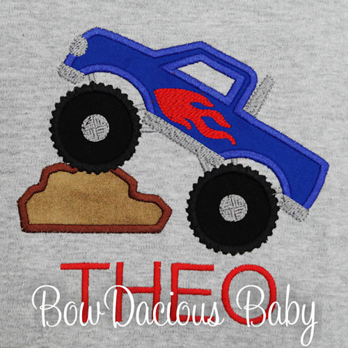 Personalized Monster Truck Shirt or Onesie, Personalized, Any Colors