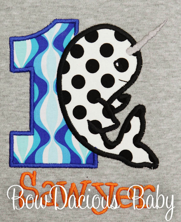 Narwhal Birthday Shirt, Custom, Personalized, Any Age and Colors
