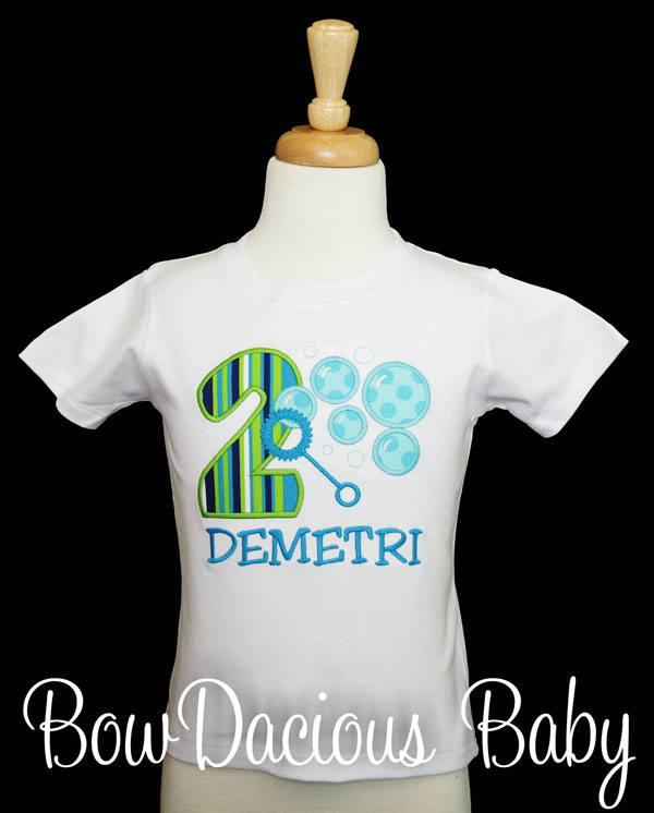 Bubbles Birthday Shirt, Any Age, Any Colors, Personalized