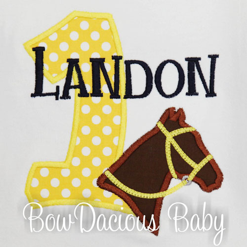 Horse Birthday Shirt or Onesies, Custom, Personalized, Any Age and Colors