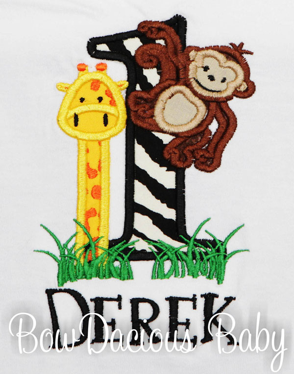Jungle Birthday Shirt, Personalized, Custom, Any Age and Colors