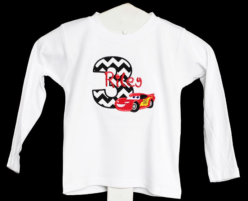 Cars Birthday Shirt Custom Any Age Or Onesie