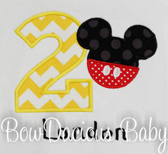 Mickey Mouse Birthday Shirt or Onesies, Custom