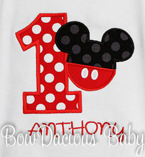 Custom Boys Mickey Mouse Birthday Shirt or Onesie
