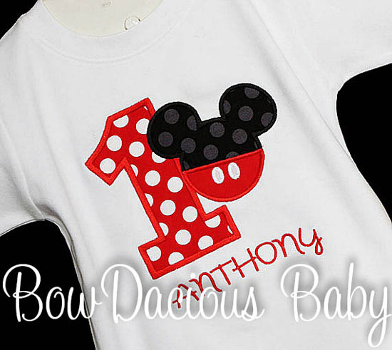 Custom Boys Mickey Mouse Birthday Shirt or Onesie