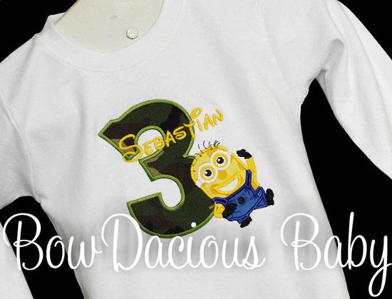 Minions Despicable Me Boys Birthday Shirt or Onesie