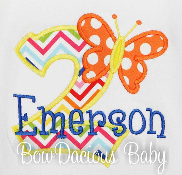 Butterfly Birthday Shirt or Bodysuit, Made for ANY AGE, Personalized Butterfly Birthday Shirt with optional Birthday Bib, Custom