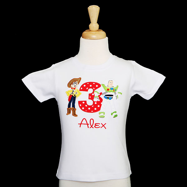 Toy Story Buzz and Woody Birthday Shirt, Custom, Personalized, Any Age