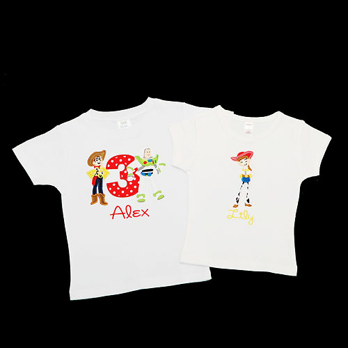 Personalized Toy Story Birthday Shirt and Jessie Sister Shirt, Custom, Any Age