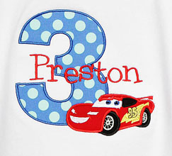 Disney Cars Custom Birthday Shirt, Any Age