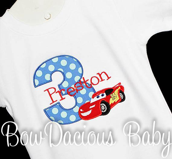 Disney Cars Custom Birthday Shirt, Any Age