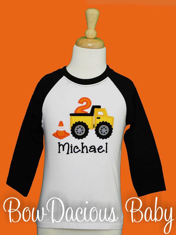 Personalized Dump Truck Birthday Shirt, Custom Dump Truck Birthday Shirt, Any Age, You Pick the Colors