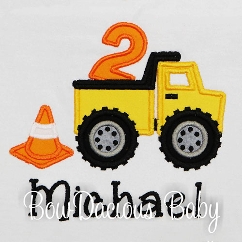 Personalized Dump Truck Birthday Shirt, Custom Dump Truck Birthday Shirt, Any Age, You Pick the Colors