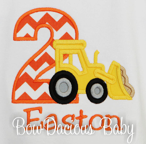 Personalized Front End Loader Birthday Shirt, Custom Loader Birthday Shirt, Custom, Any Age