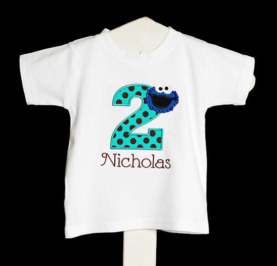 Cookie Monster 1st Birthday Shirt, Baby Boy Sesame Street, First Birthday Cookie Monster