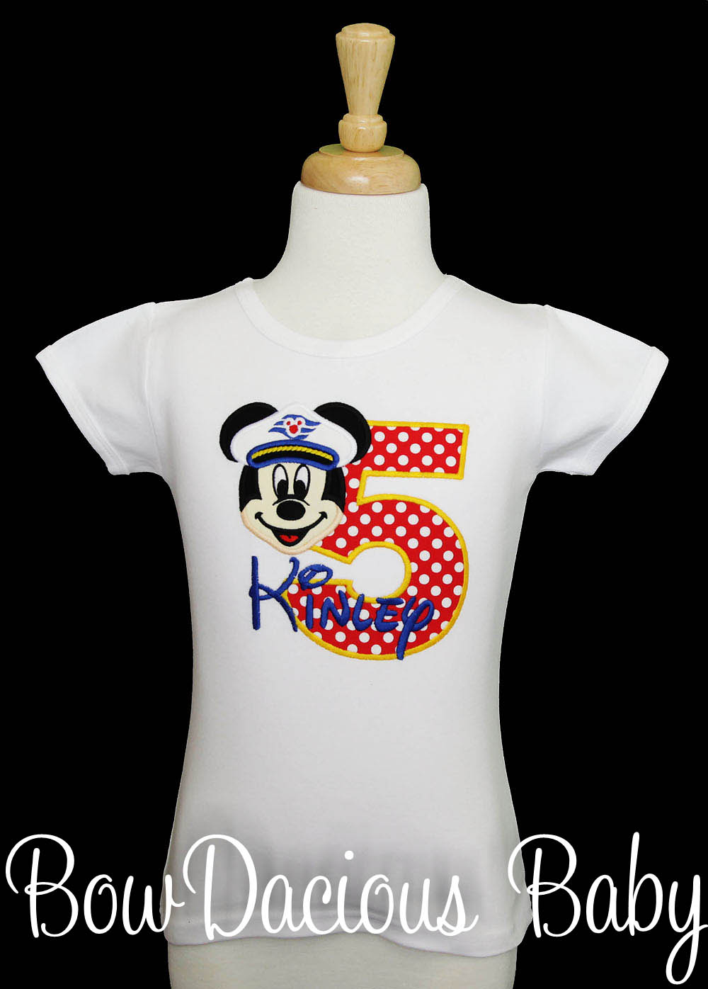Disney Cruise Mickey Mouse Birthday Shirt (Minnie Available), Custom, Any Age, Any Colors