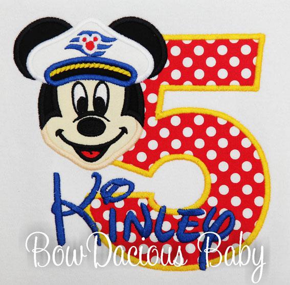 Disney Cruise Mickey Mouse Birthday Shirt (Minnie Available), Custom, Any Age, Any Colors