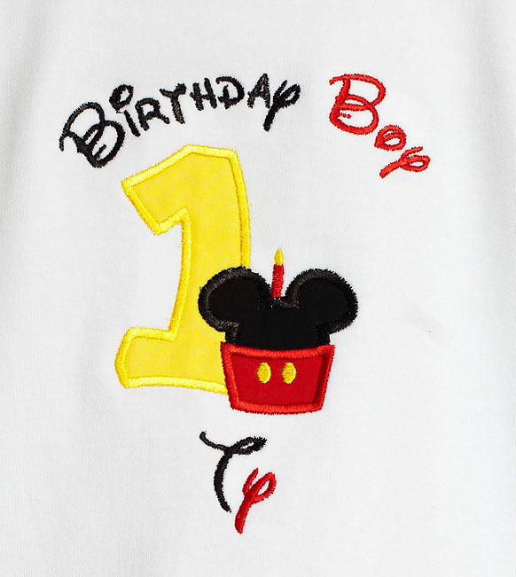 Personalized Cupcake Mickey Mouse Birthday Boy T Shirt Custom