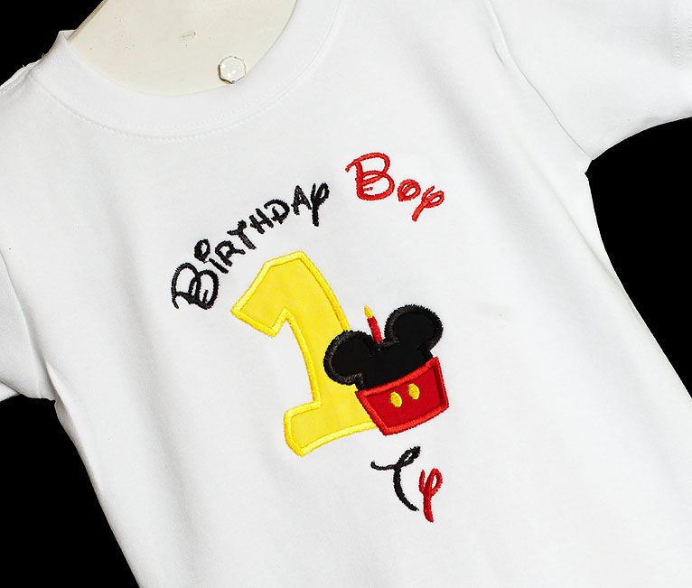 Personalized Cupcake Mickey Mouse Birthday Boy T-Shirt, Custom, Any Age