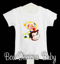 Curious George Birthday Shirt, Dress, or Onesie