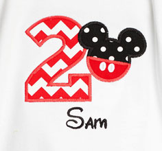 Personalized Mickey Mouse Birthday Shirt or Onesie, Any Age