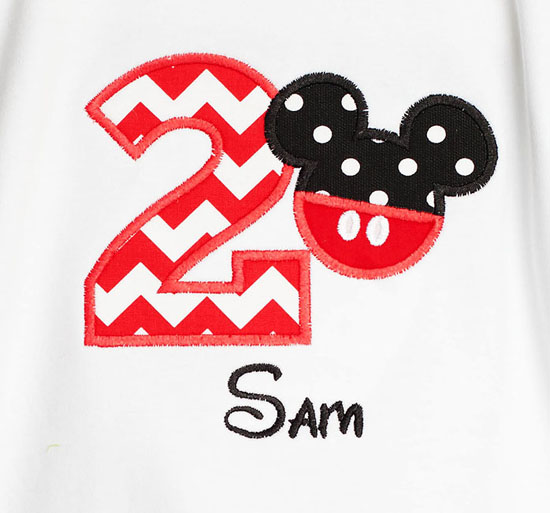 Personalized Mickey Mouse Birthday Shirt Or Onesie