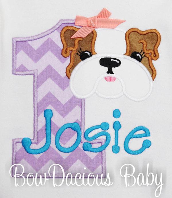 Bulldog Birthday Shirt, Puppy Shirt, Personalized, Applique Shirt, Dog Birthday, Birthday Shirt, Personalized Birthday, Puppy Birthday, CUSTOM