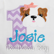 Bulldog Birthday Shirt, Puppy Shirt, Personalized, Applique Shirt, Dog Birthday, Birthday Shirt, Personalized Birthday, Puppy Birthday, CUSTOM