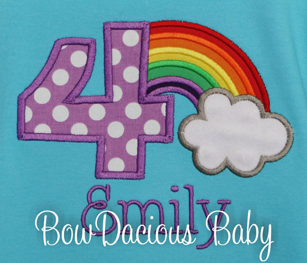 Rainbow Birthday Shirt, Rainbow Birthday Onesie, Birthday Girl Rainbows, Custom, ANY AGE, ANY COLORS
