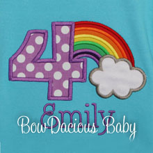 Rainbow Birthday Shirt, Rainbow Birthday Onesie, Birthday Girl Rainbows, Custom, ANY AGE, ANY COLORS