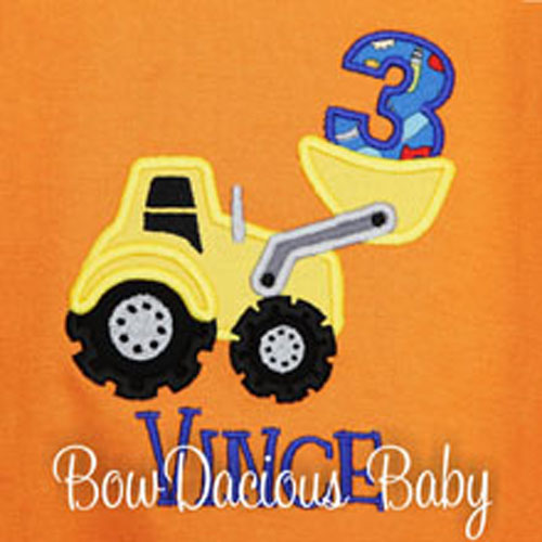 Boys Loader Birthday Shirt, Custom Loader Birthday Shirt, Personalized, Any Age, Any Colors