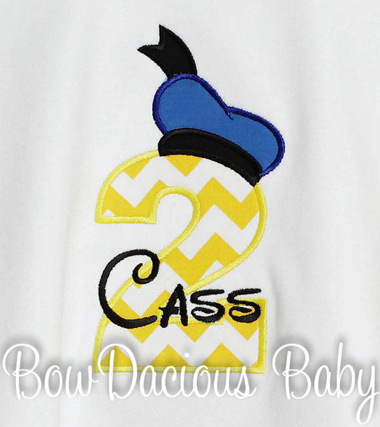 Donald Duck Birthday Shirt or Onesie