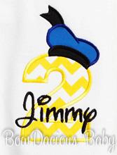 Donald Duck Birthday Shirt or Onesie, Custom