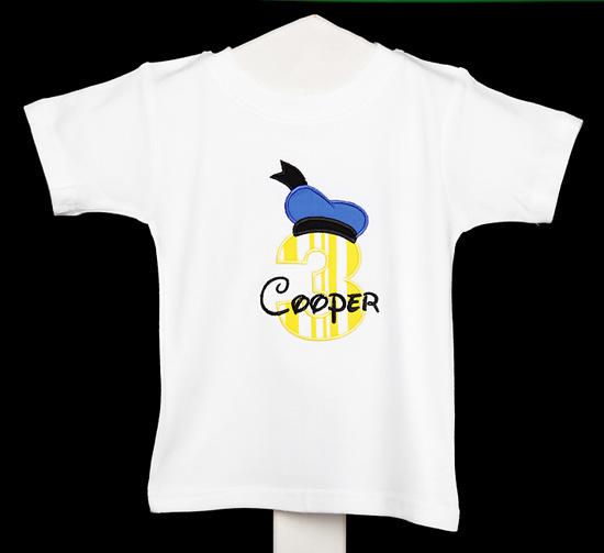 Boys Donald Duck Birthday Shirt or Onesie, Custom