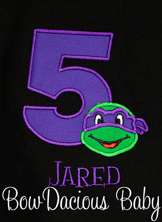Teenage Mutant Ninja Turtles, TMNT, Shirt Name and Birthday Number
