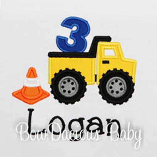Custom Dump Truck Birthday Shirt, Personalized Dump Truck Birthday Shirt, Any Age, Any Colors