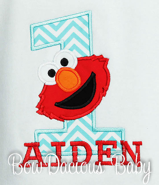 Custom Elmo Birthday Shirt, Any Age