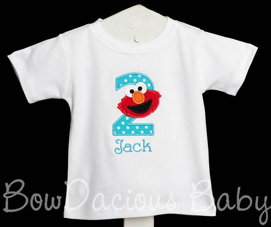 Custom Personalized Elmo Birthday Shirt or Onesie, Any Age